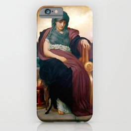 "Frederick Leighton ""The Tragic Poetess"" iPhone Case"