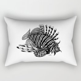 Red Lionfish - Beauty Is The Beast Rectangular Pillow
