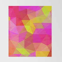 Citrus Candy Low Poly Throw Blanket