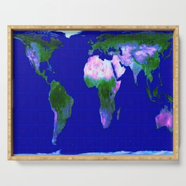 World Map : Gall Peters Serving Tray