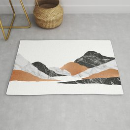 Marble Landscape II, Mountains Rug
