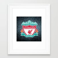 liverpool Framed Art Prints featuring LIVERPOOL by Acus