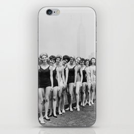 Vintage Beauty Queens Swimsuit Lineup 1950s iPhone Skin