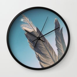 Brown Feathers Wall Clock