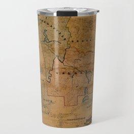 Map Of Brookfield 1855 Travel Mug
