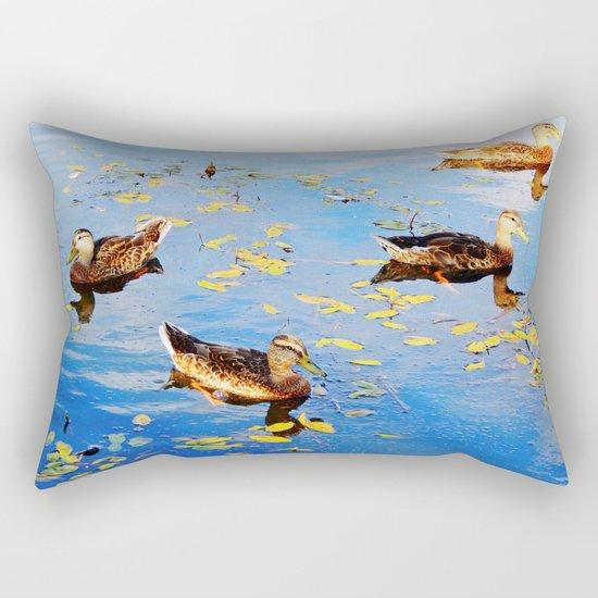 Ducks on a Pond Rectangular Pillow