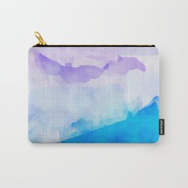 Turquoise Batik Mountains Carry-All Pouch