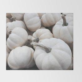 White Autumn Throw Blanket