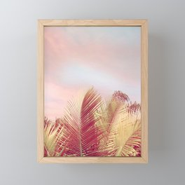 Pink Palms in the Breeze Framed Mini Art Print