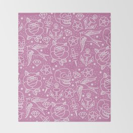 Pink Flash Throw Blanket