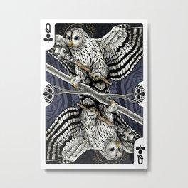 Owl Deck: Queen of Clubs Metal Print