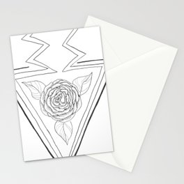 Rose and Arrow Design Stationery Cards