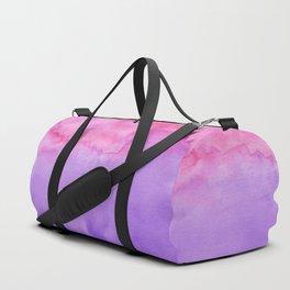 Watercolor Duo - Pink and Purple Duffle Bag