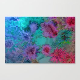 Flowers abstract #2 Canvas Print