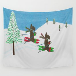 Hitting the Slopes - Scotties - Scottish Terriers Wall Tapestry