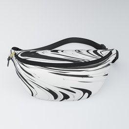 Zigzags in Black and White Fanny Pack