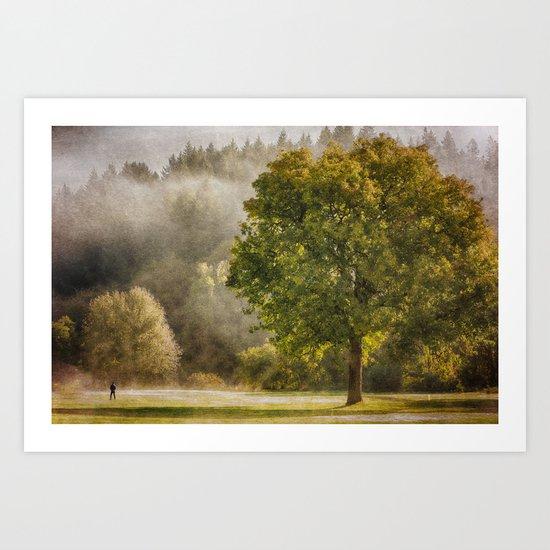 Morning Fog Monet Art Print