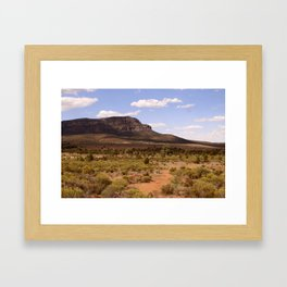 Rawnsley Bluff in the Australian Flinders Ranges Framed Art Print
