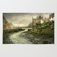 cassia beck Area & Throw Rugs featuring The Beck at Staithes by tarrby/Brian Tarr