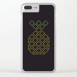 Geometric pineapple Clear iPhone Case