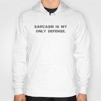 sarcasm Hoodies featuring Sarcasm by Alisa Galitsyna