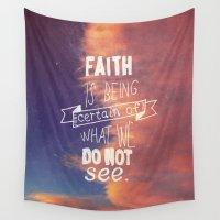 faith Wall Tapestries featuring faith  by Brittney Borowski