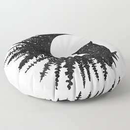 Owl and Forest Floor Pillow