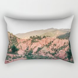 Orange mountains of Ourika Morocco | Atlas Mountains near Marrakech Rectangular Pillow