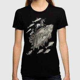 Wierd Fish and Unicorns Unite T-shirt