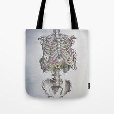 Floral Anatomy Skeleton Tote Bag
