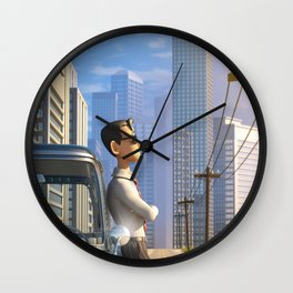 Luca's Day Off Wall Clock