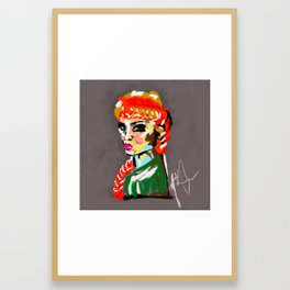 IRISH WARRIOR PRINCESS Framed Art Print