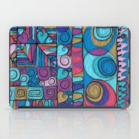stained glass iPad Cases featuring Stained Glass by Helene Michau