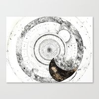 astrology Canvas Prints featuring astrology lapse by Carolina Arévalo