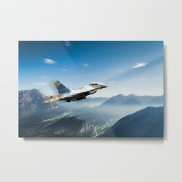 Alaskan Falcon Metal Print