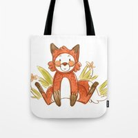 relax Tote Bags featuring Relax by Nikita Horridge