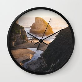 Shark Fin Cove -  Davenport, CA Wall Clock