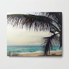 Sea and Palm  Metal Print