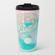 Yin Yang Watercolor Metal Travel Mug