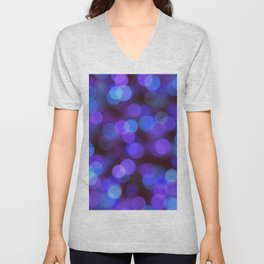Bleu violet background | fond bleu violet Unisex V-Neck