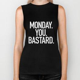Monday You Bastard Biker Tank