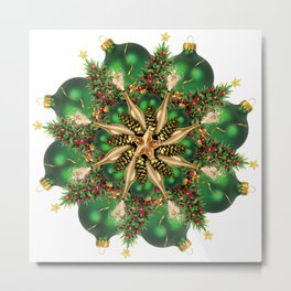new year tree mandala Metal Print