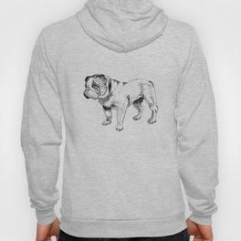 Bulldog Ink Drawing Hoody