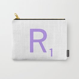 Monogram Art Scrabble R Carry-All Pouch