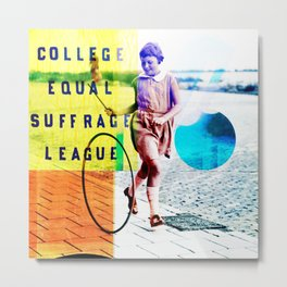 College Equal Suffrage League Metal Print
