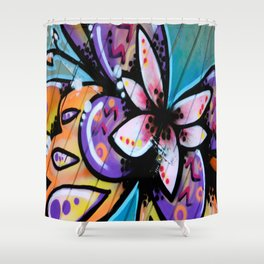 Bright Butterfly Shower Curtain