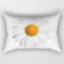 White daisy Rectangular Pillow