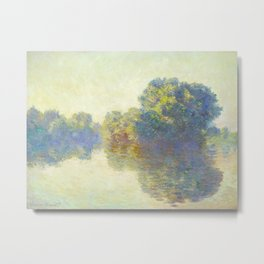 The Seine at Giverny Claude Monet 1897 Impressionist Oil Painting Nature Trees Lake Landscape Metal Print