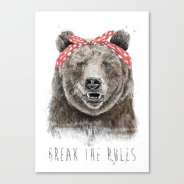 Break the rules (color version) Canvas Print