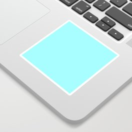 Bright Electric Neon Blue Color Sticker